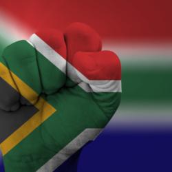 SA flag fist