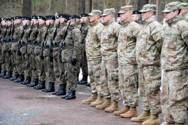 U.S soldiers arrive to Zagan