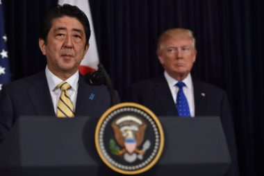 Abe&Trump respond to NK missile test