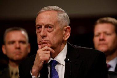 U.S. Defense Secretary Mattis testifies before the Senate Armed Services Committee on Capitol Hill in Washington