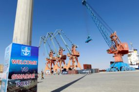 FILE PHOTO: A general view of the port before the inauguration of the China-Pakistan Economic Corridor port in Gwadar