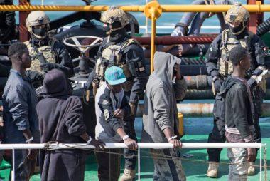 Migrant hijackers