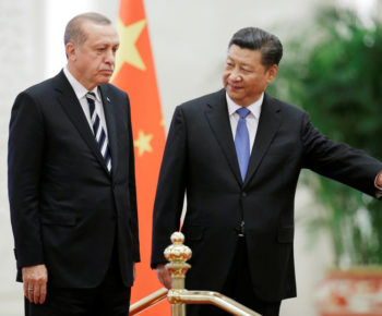 Turkish President Recep Tayyip Erdogan meets Chinese President Xi Jinping ahead of the Belt and Road Forum in Beijing, China May 13, 2017. REUTERS/Jason Lee