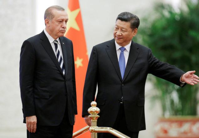 Turkish President Recep Tayyip Erdogan meets Chinese President Xi Jinping in Beijing