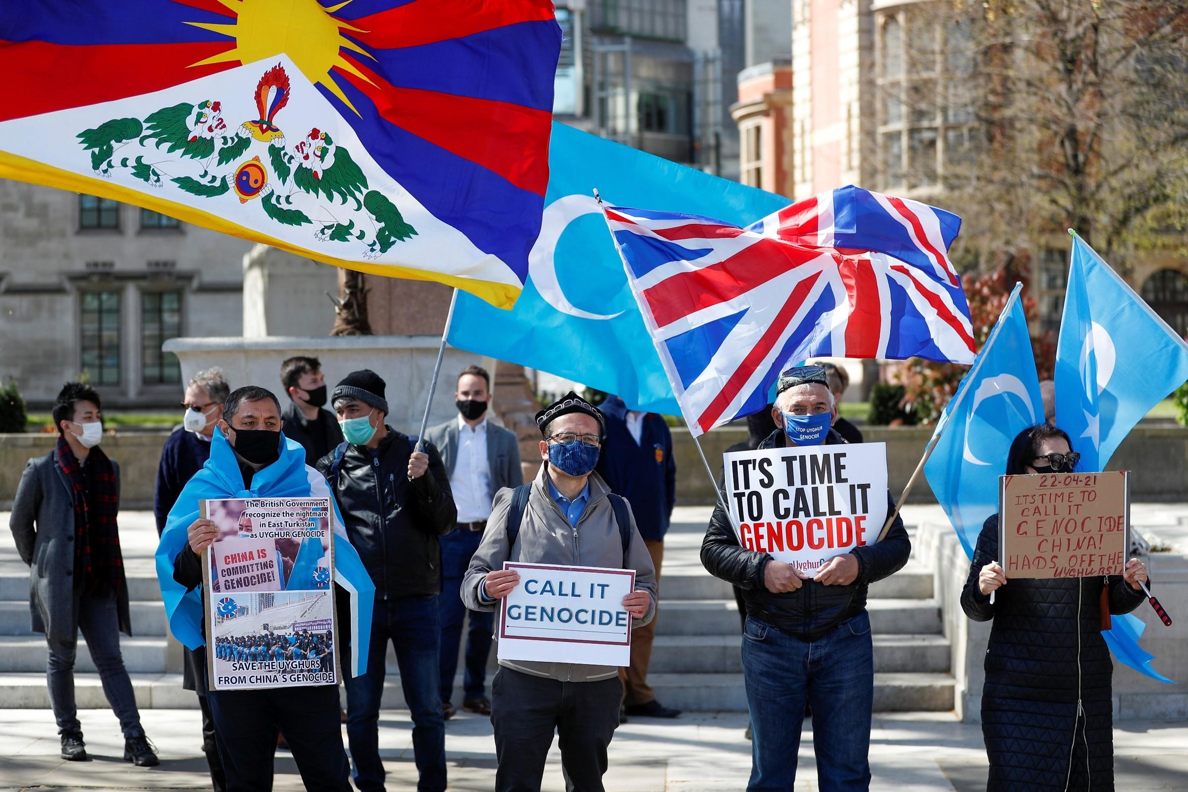 Uyghur protest UK